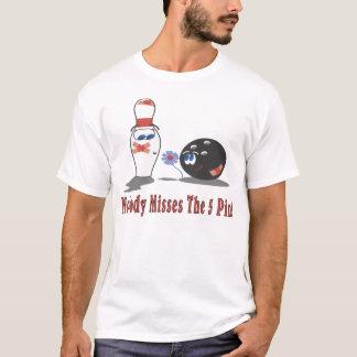 Camiseta Rolamento: Ninguém senhoritas 5 o Pin - parte