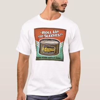 Camiseta Role acima seu T da graxa de cotovelo das capas |