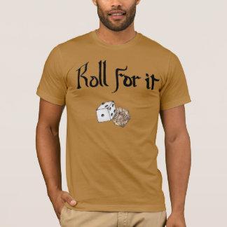Camiseta Rolo para ele! (Dungeon e dragões inspirados)