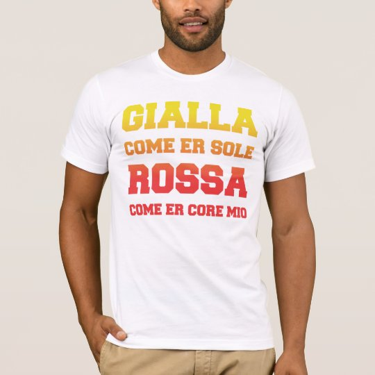 Camiseta Roma Gialla come er sole Rossa come er core mio