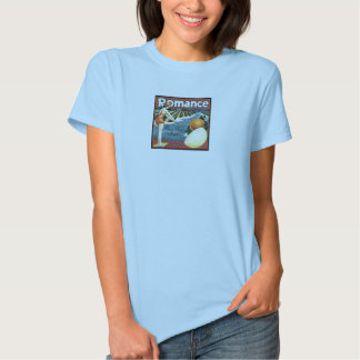 Camiseta romance do impressão do vintage da
