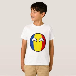 Camiseta Romania Geeky de tensão engraçado Countryball