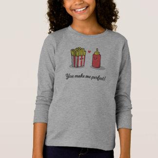 Camiseta Romântico engraçado você faz-me aperfeiçoar a