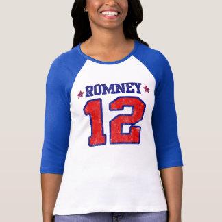 Camiseta Romney '12, design do esporte do time do colégio,