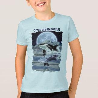 Camiseta Rompendo a orca com corvo & lua