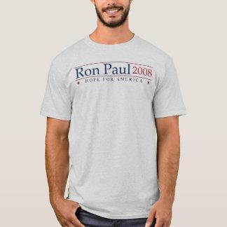 Camiseta Ron Paul 2008 revoluções (cinzentas)