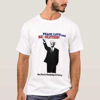 Camiseta Ron Paul - paz, amor e revolução!