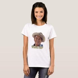 Camiseta Ronald Reagan no chapéu de vaqueiro