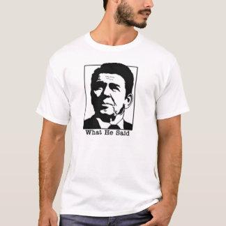 Camiseta Ronald Regan - o que disse o tshirt