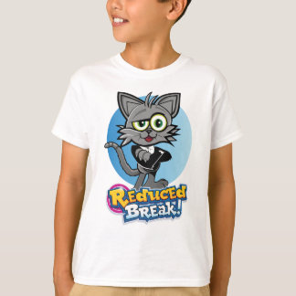 Camiseta Rooskie é o gato video louco na ruptura reduzida