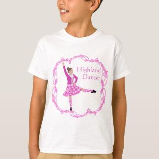 Camiseta Rosa Aboyne do dançarino das montanhas