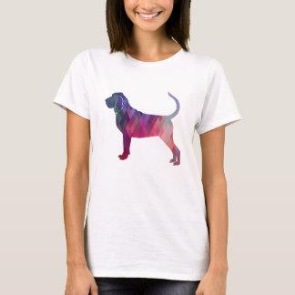 Camiseta Rosa colorido da silhueta do teste padrão de Geo