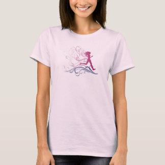 Camiseta Rosa da menina do corredor