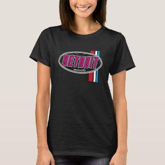 Camiseta ROSA das senhoras do músculo de Detroit