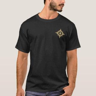 Camiseta Rosa de compasso dourado pequeno da pata