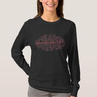 Camiseta Rosa de Rev58-LS no preto