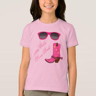 Camiseta Rosa do amor das meninas de Texas