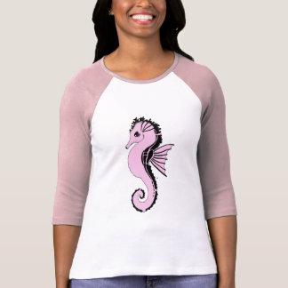 Camiseta rosa do cavalo marinho