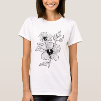 Camiseta Rosa do hibiscus da flor de Sharon