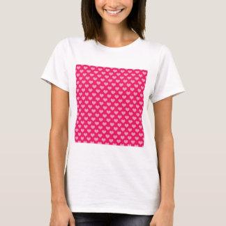Camiseta Rosa do papel de parede do fundo dos corações