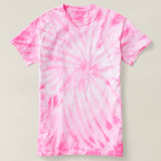 Camiseta Rosa do t-shirt da Laço-Tintura do ciclone das