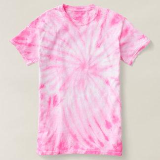 Camiseta Rosa do t-shirt da Laço-Tintura do ciclone dos