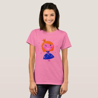Camiseta Rosa do t-shirt da princesa com desenho