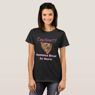 Camiseta Rosa do urso de Momma do cuidado