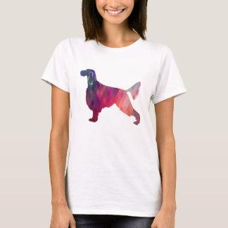 Camiseta Rosa geométrico da silhueta do teste padrão do