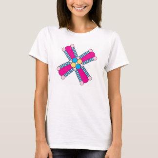 Camiseta rosa quente do kaleidoflower