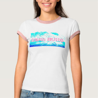 Camiseta Rosa sul T azul do montículo