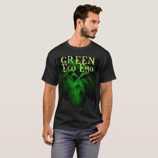 Camiseta Rosa verde do ego verde de Eco no fundo preto