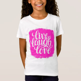 CAMISETA ROSA VIVO, RISO, TSHIRT DO AMOR