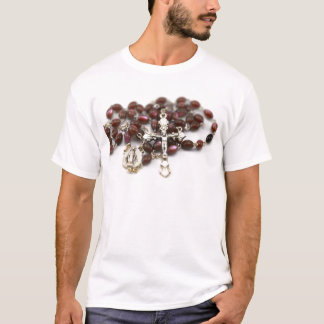 Camiseta Rosário católico transversal do Jesus Cristo