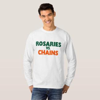 Camiseta Rosários contra o t-shirt dos bastões