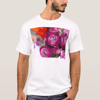Camiseta rosas frescos