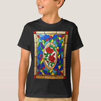 Camiseta Rosas vermelhas do vitral