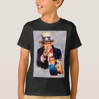 Camiseta Rosie o design do rebitador & do tio Sam