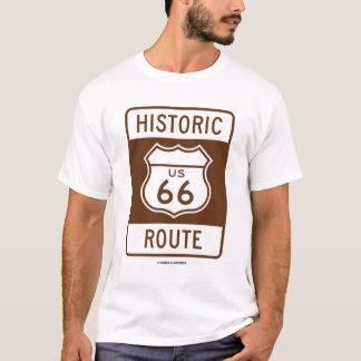 Camiseta Rota histórica dos E.U. 66 (sinal do transporte)