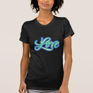 Camiseta Roteiro azul 70s retro do amor