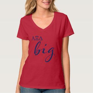Camiseta Roteiro grande do delta do alfa Xi