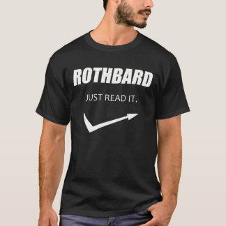 Camiseta Rothbard - Just read it!
