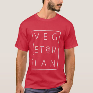 Camiseta Rotulação da grade do vegetariano (Cardinal/M)