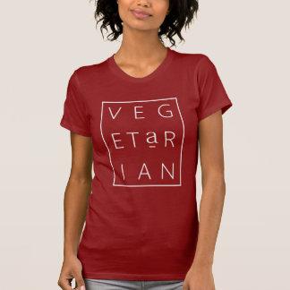 Camiseta Rotulação da grade do vegetariano (Cranberry/W)