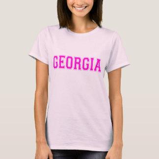 Camiseta Rotulação do rosa do t-shirt de Geórgia