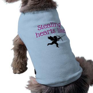 Camiseta Roubando corações goste do Cupido
