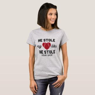 Camiseta Roubou meu coração como roubou sua base