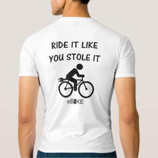 """Camiseta """"Roubou-o"""" partes superiores ativas de ciclagem"""
