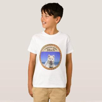 Camiseta Rouco bonito com os olhos azuis que sentam-se na