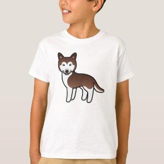 Camiseta Rouco Siberian dos desenhos animados de cobre